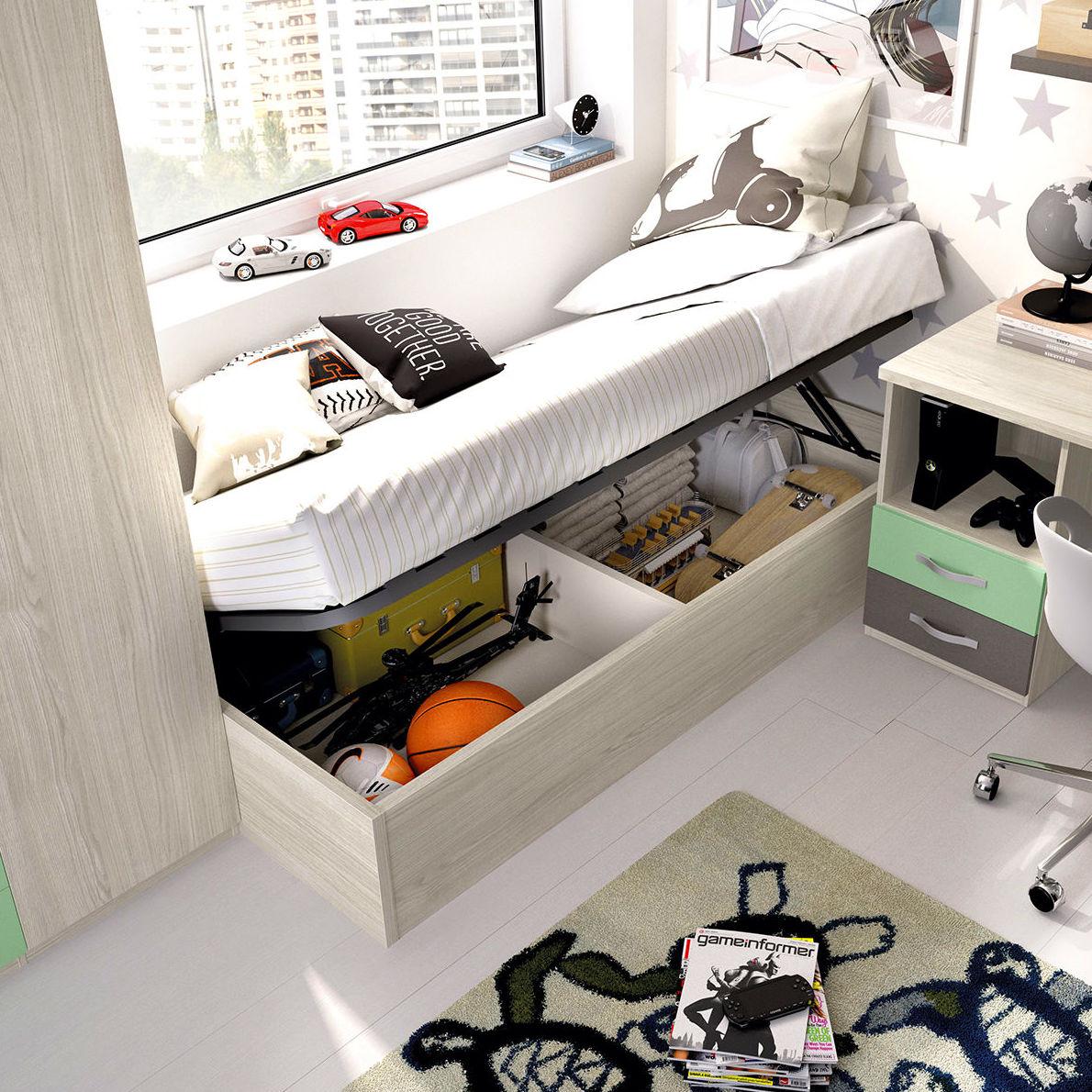 Solución cama abatible horizontal