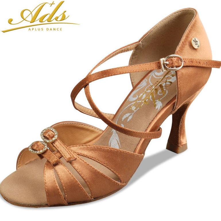 Zapato baile latino regulable cobre