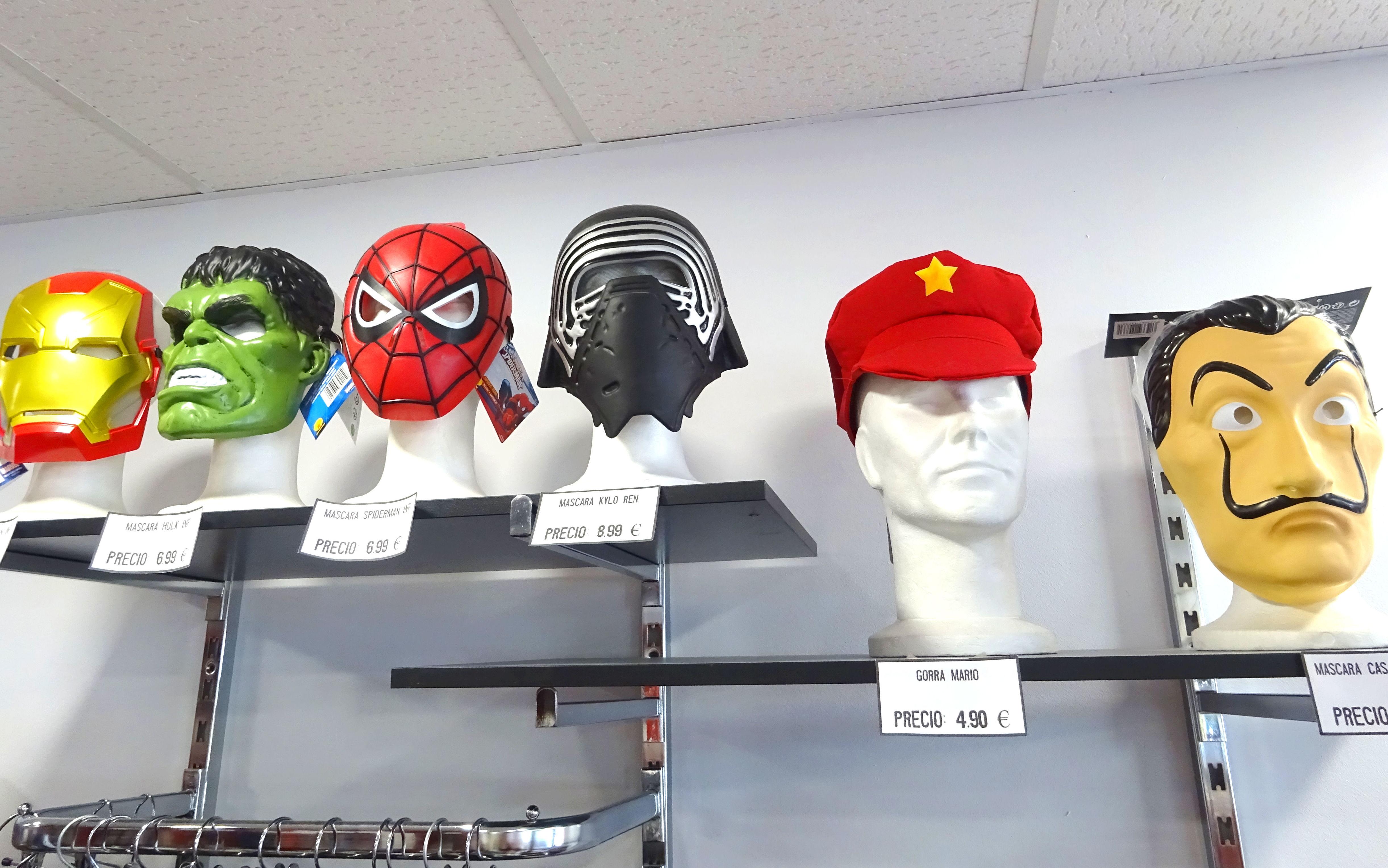 Máscaras personajes