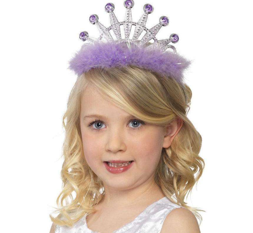 Diadema princesa marabú infantil y adulto