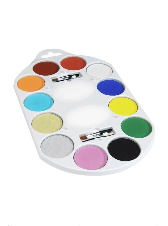 Paleta 12 colores maquillaje al agua