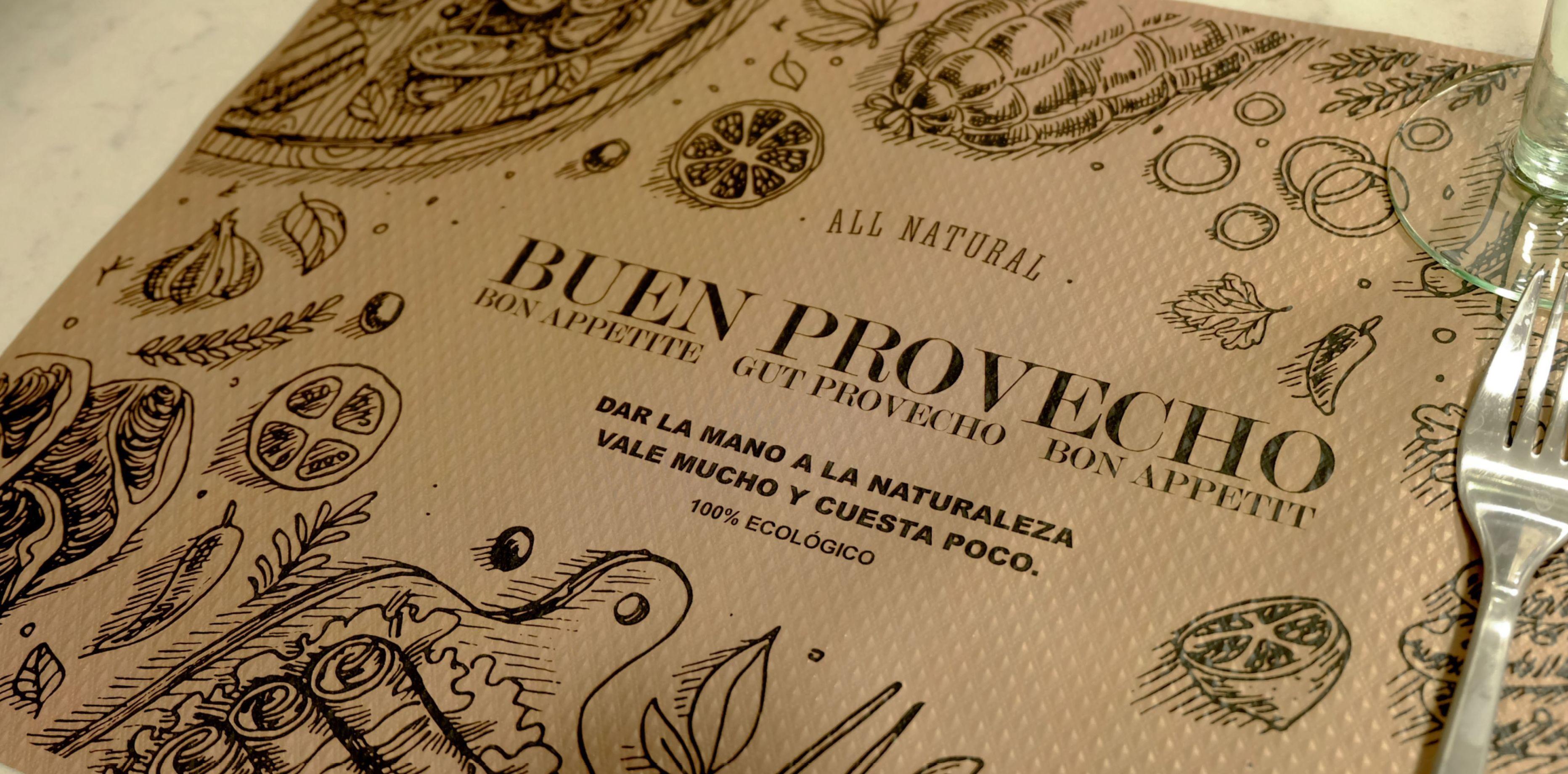 Mantel 30x40 Go Green Buen Provecho (Mapelor)