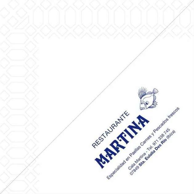 Servilleta celulosa, impresión Rte. Martina (Mapelor)