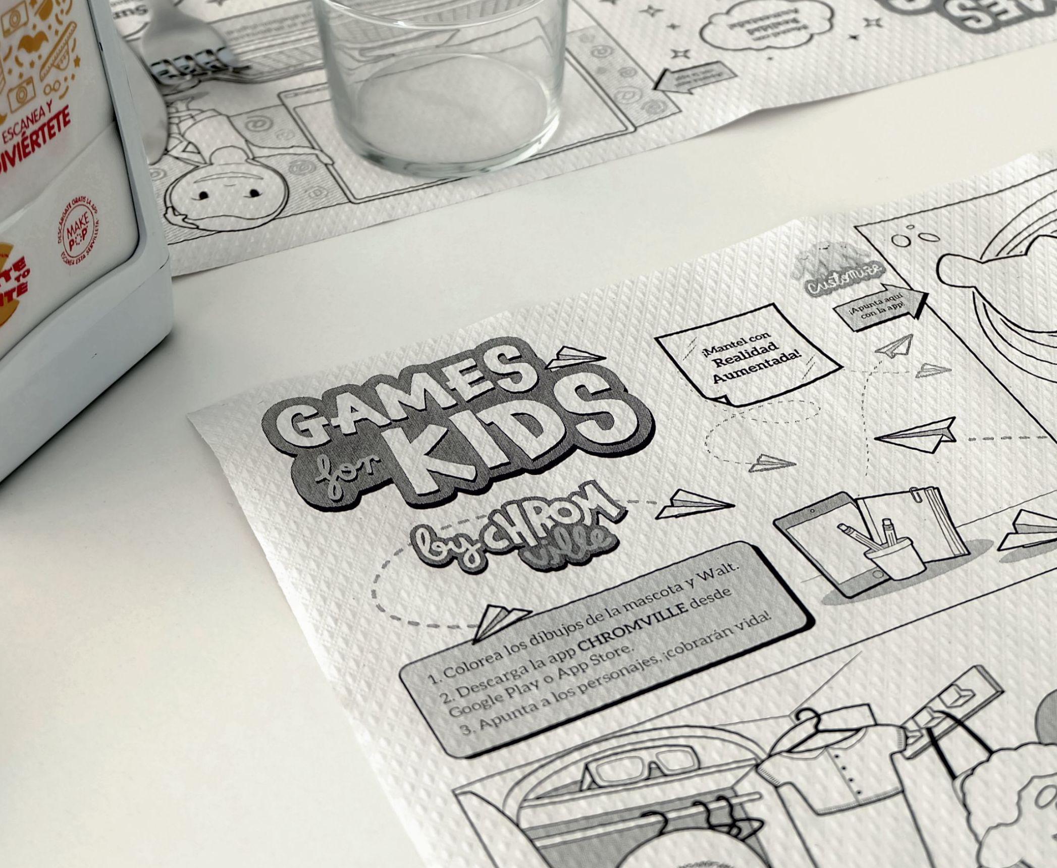Mantel 30x40 Game Kids (Mapelor)