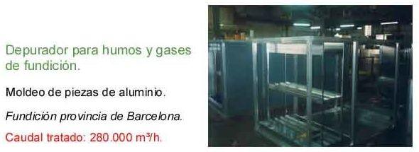 Depurador para humos y gases de fundición