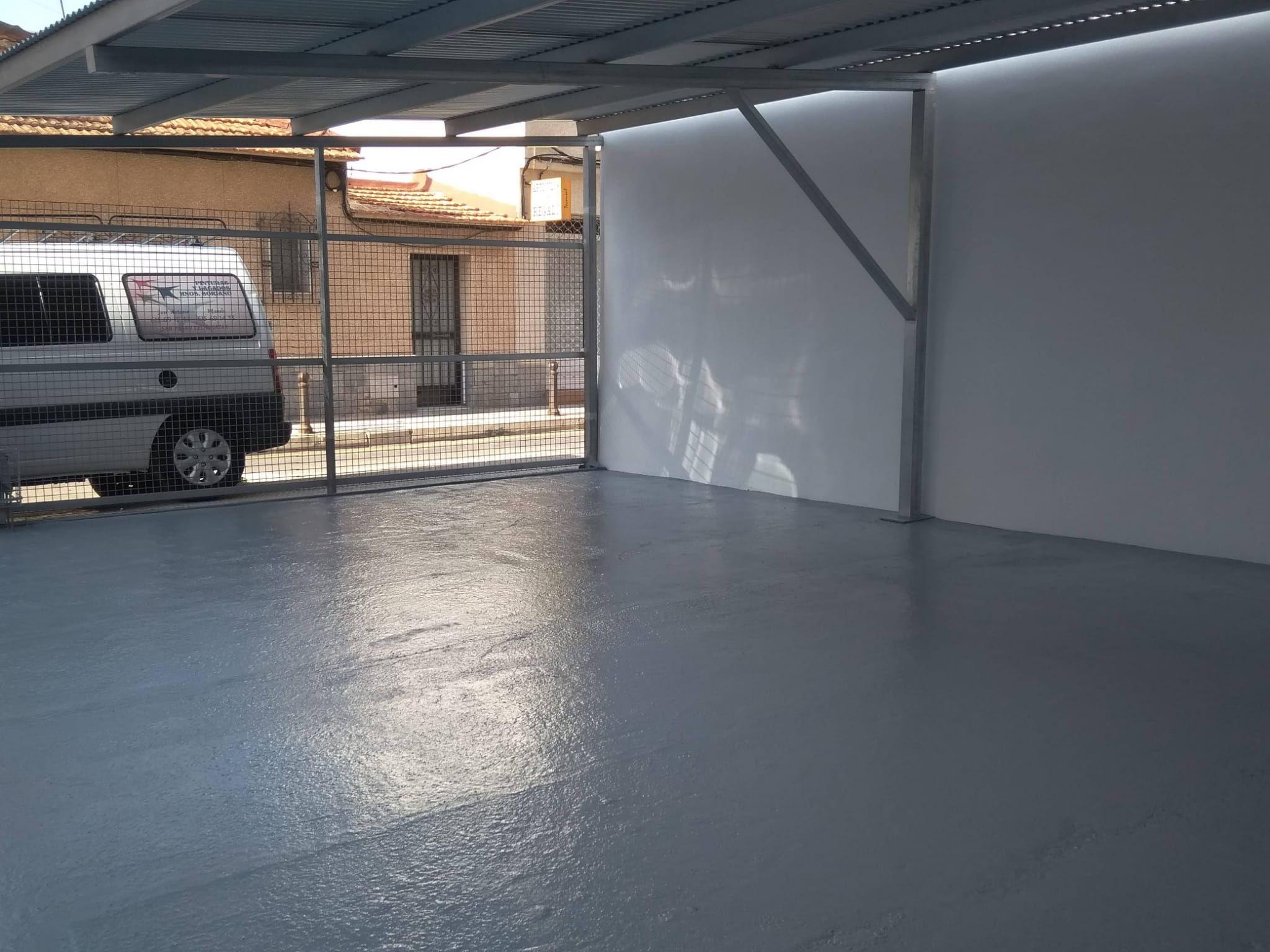 garaje despues de pintar