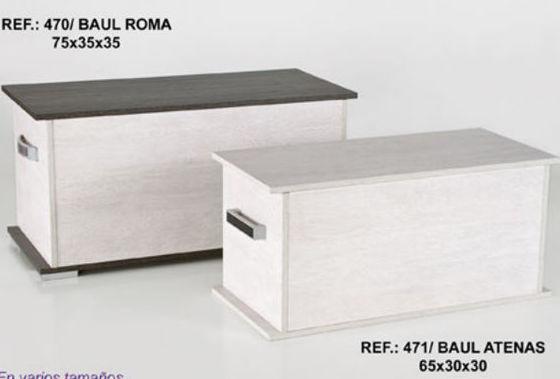 Diferentes modelos de baúles de madera