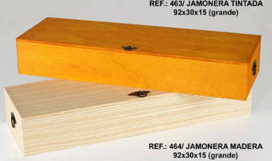 Jamonera de madera de diferentes colores