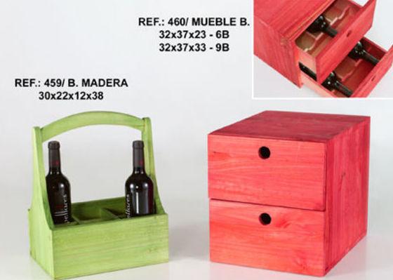 Muebles de madera para vinos