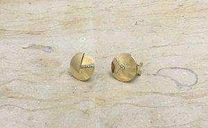 Pendientes oro amarillo con zirconitas cierre Omega / 310,00 €