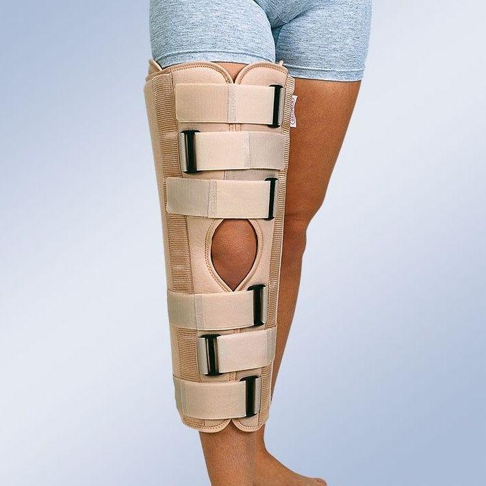 Ortesis inmovilizadora de rodilla de tres paneles a 0º: Productos y servicios de Ortopedia Delgado, S. L.