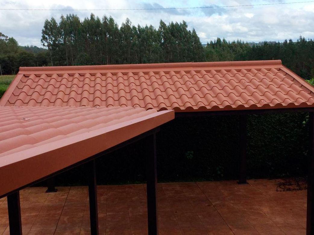 Foto 3 de cubiertas y tejados en boimorto cubiertas meixide - Cubiertas imitacion teja ...