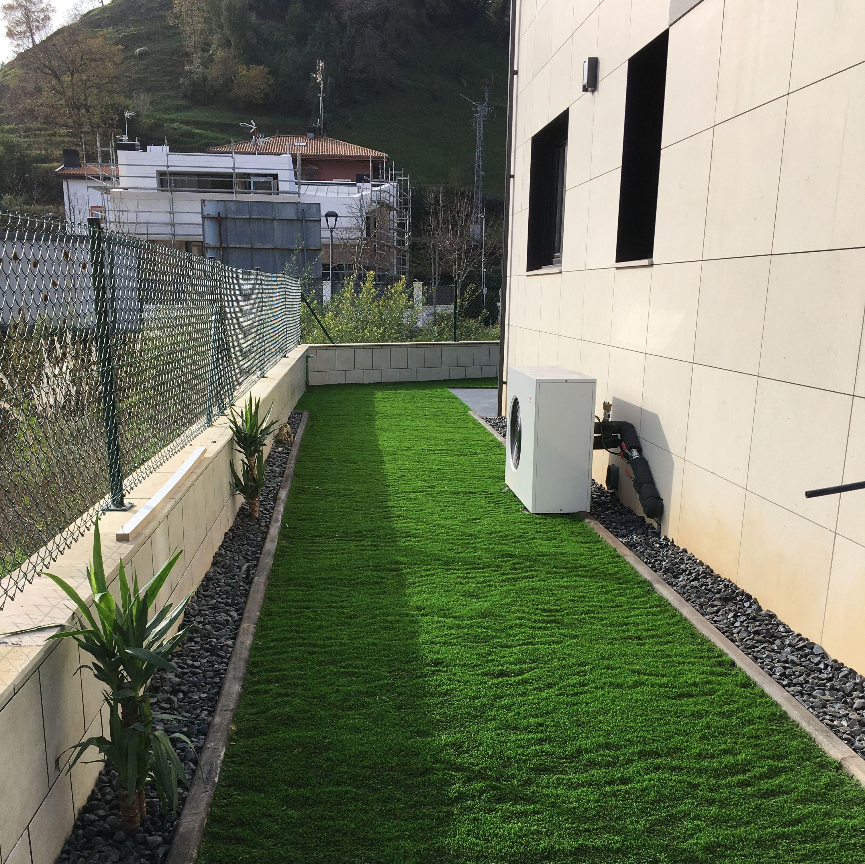 Instalación de césped artificial en Getxo