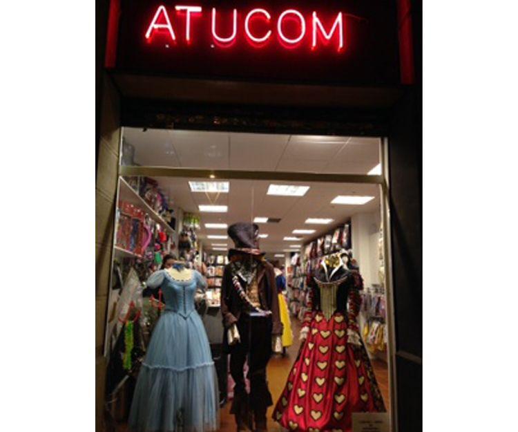 Escaparate de la tienda de disfraces en Barcelona
