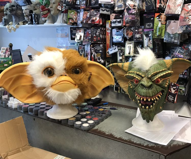 Máscaras para disfraces de gremlins en Barcelona