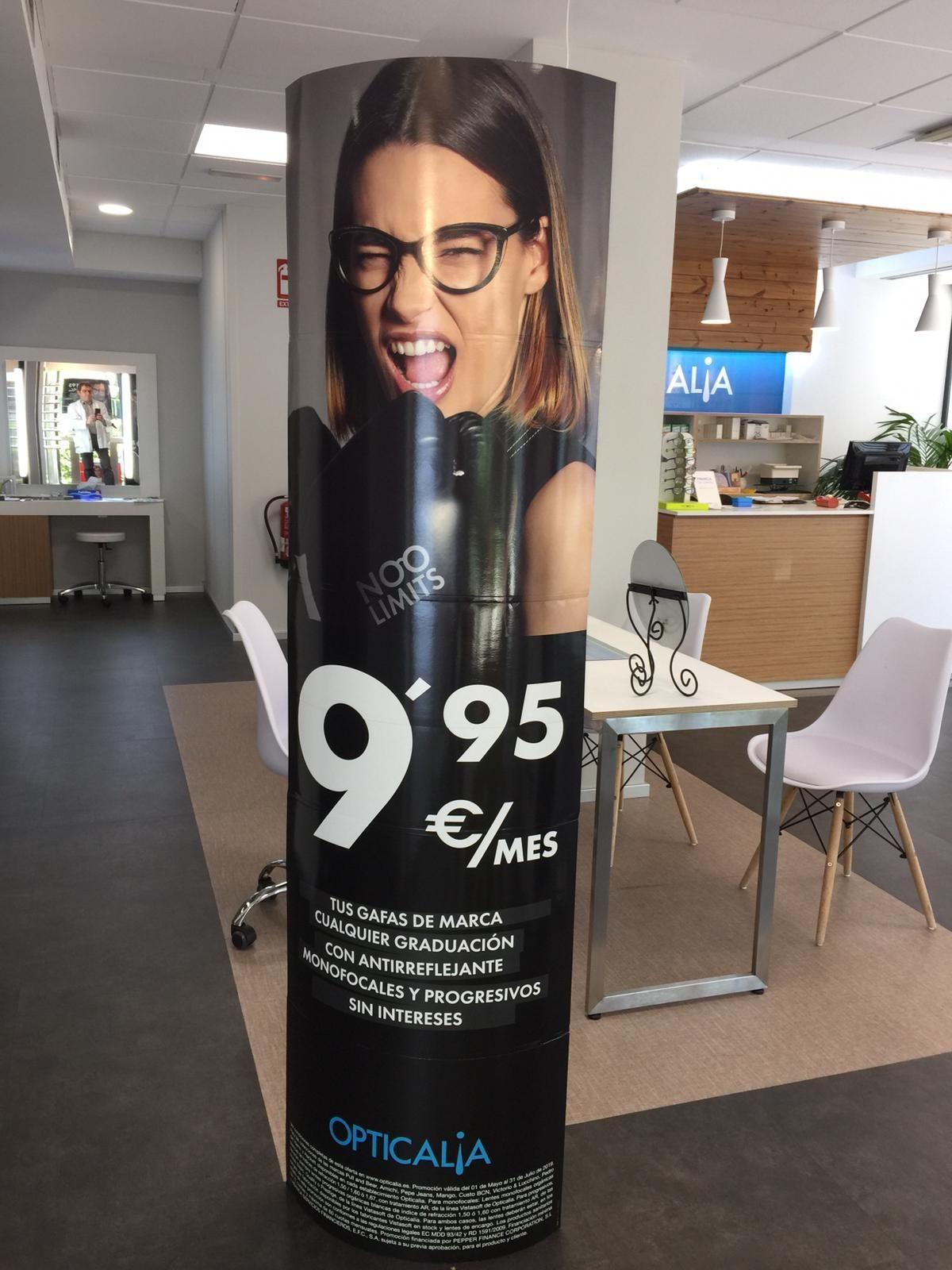 Tus gafas de marca, monofocales y progresivos, cualquier marca por 9.95€ mes!!