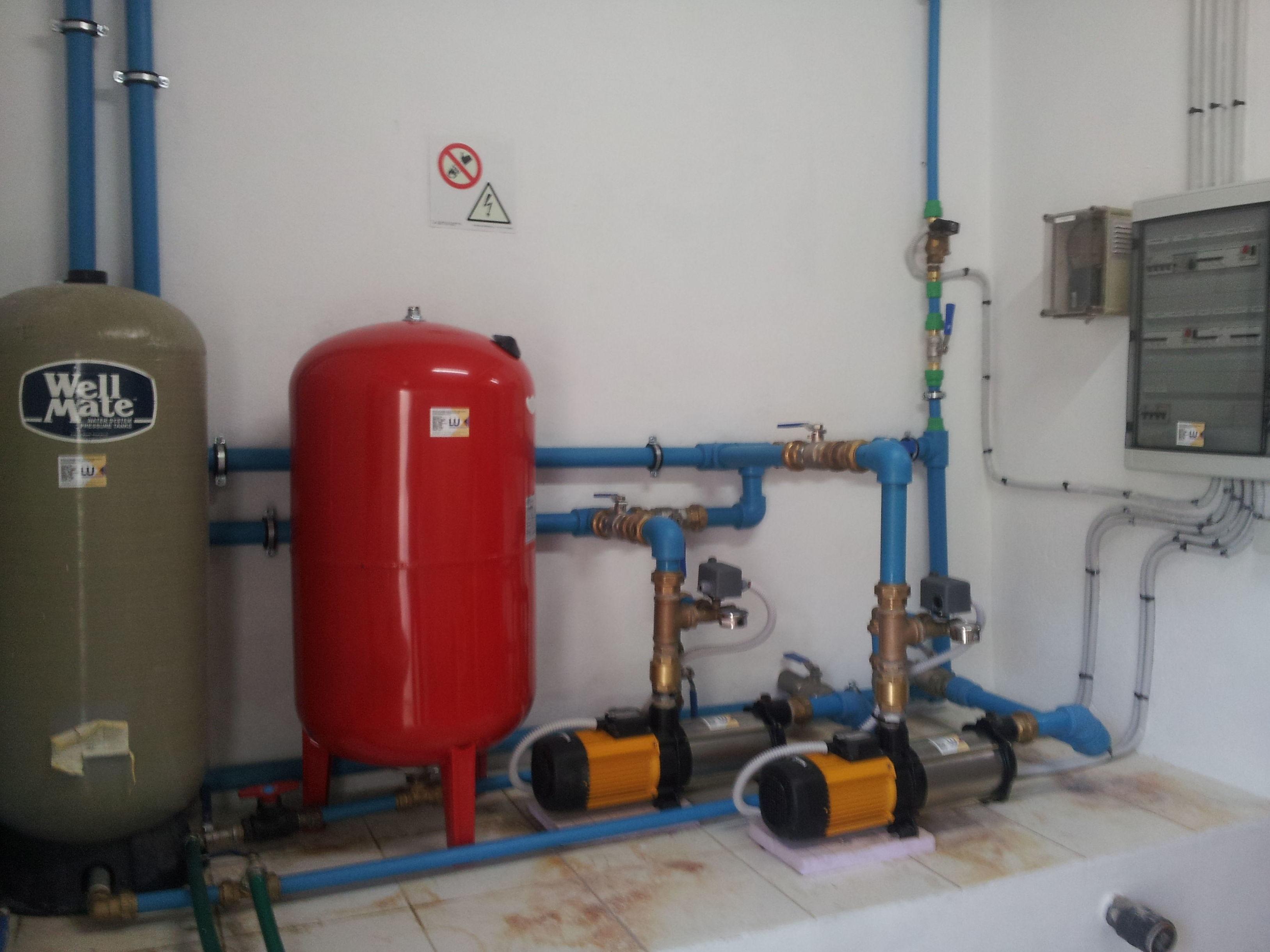 Instalación de calderas y termos