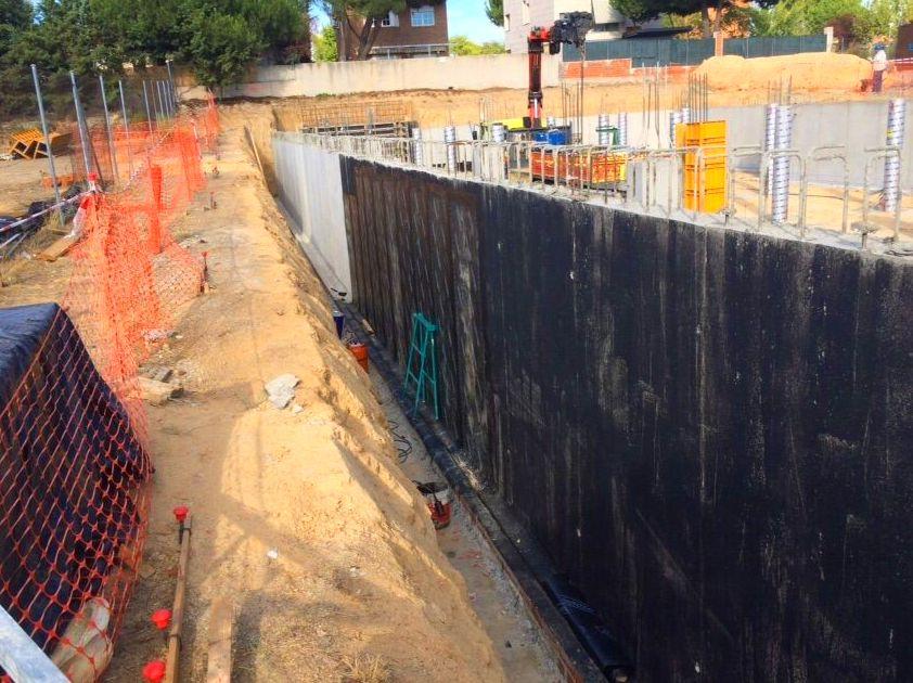 Impermeabilización sobre muro