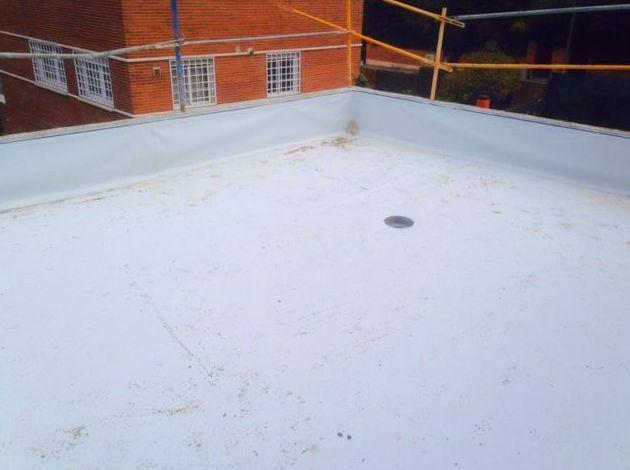 Impermeabilización con lámina de PVC