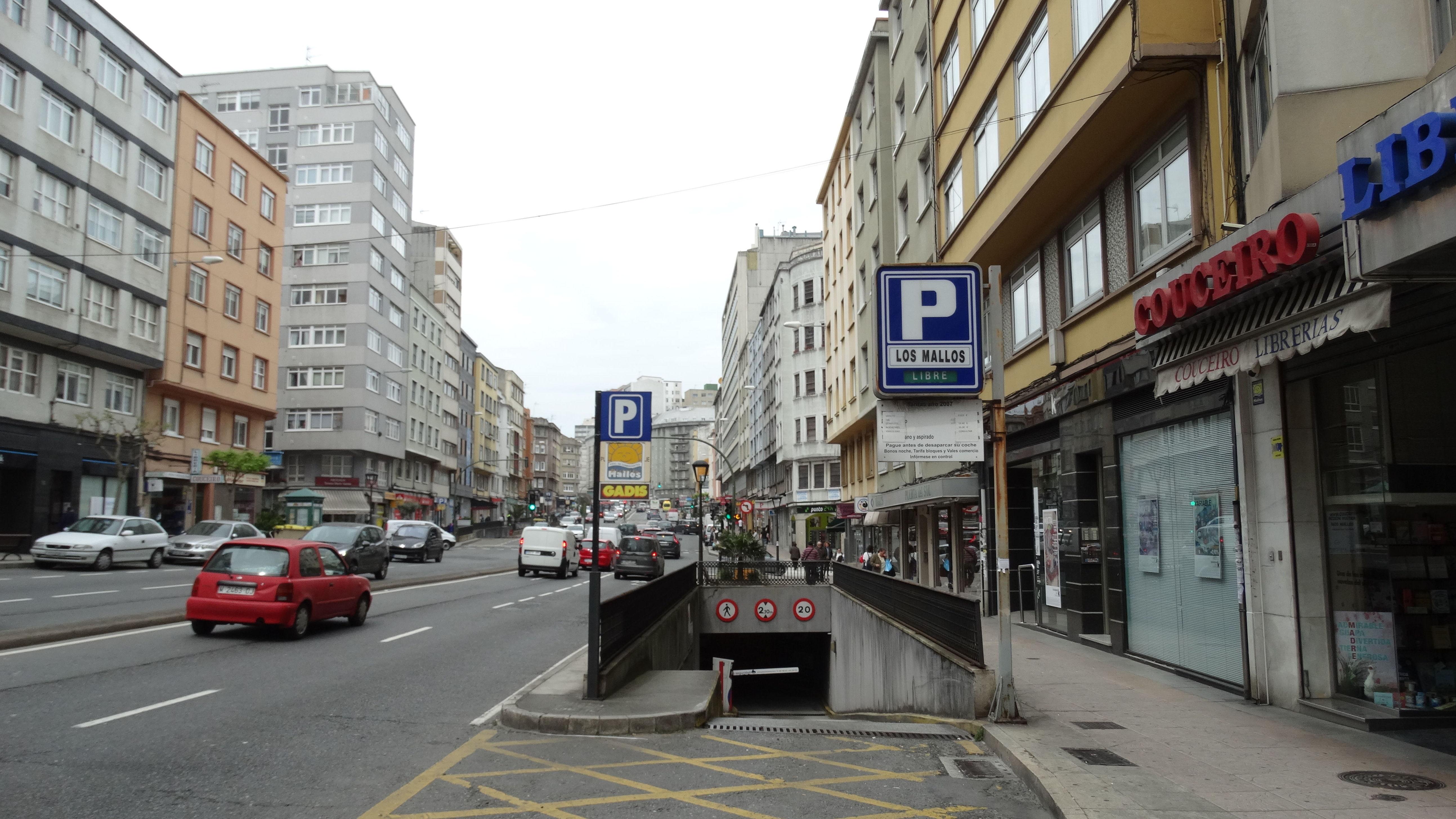 Aparcamiento en A Coruña cerca de la estación