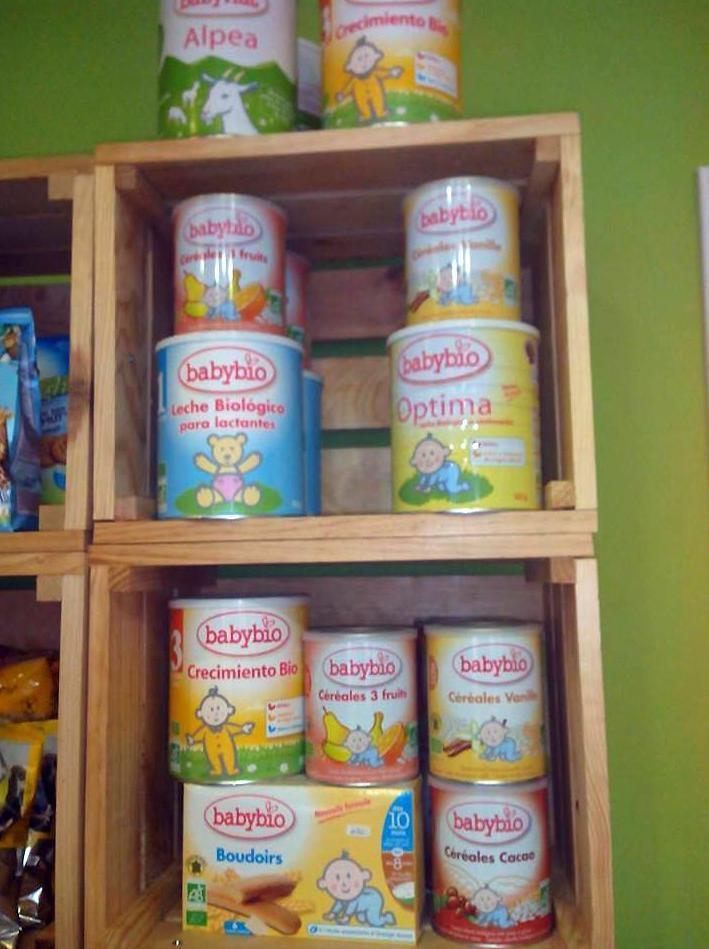 Venta de alimentación infantil biológica en Tenerife