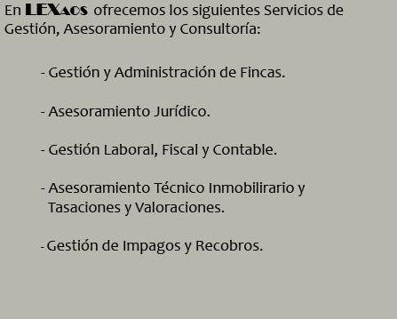 Servicios de Gestión, Asesoramiento y Consultoría.