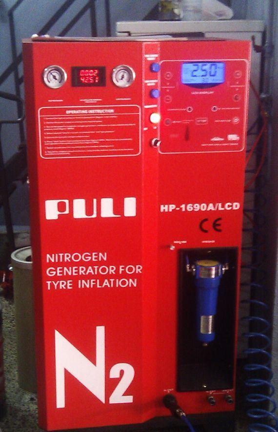Máquina de insuflado de nitrógeno para neumáticos