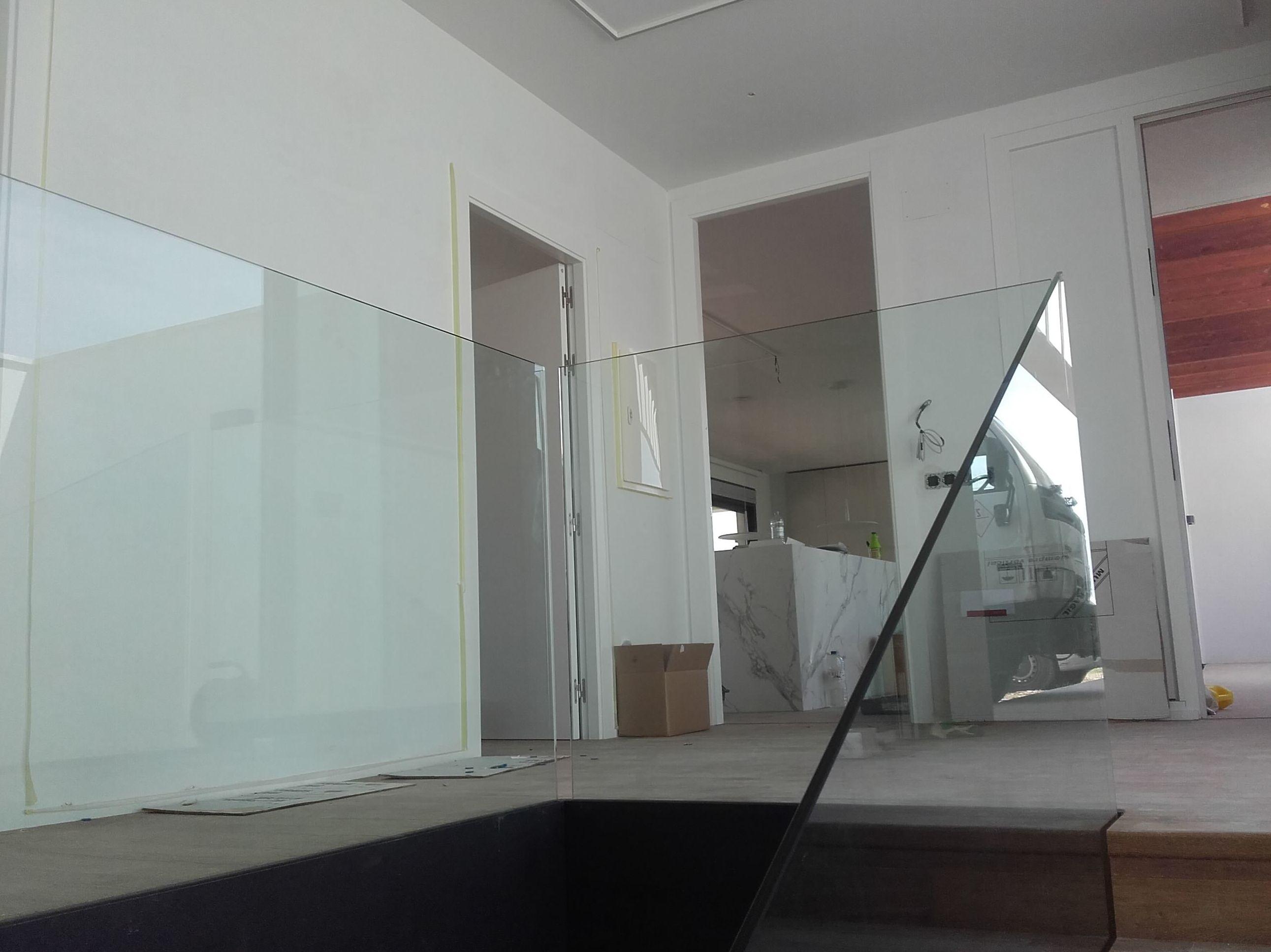 Barandillas en vidrio