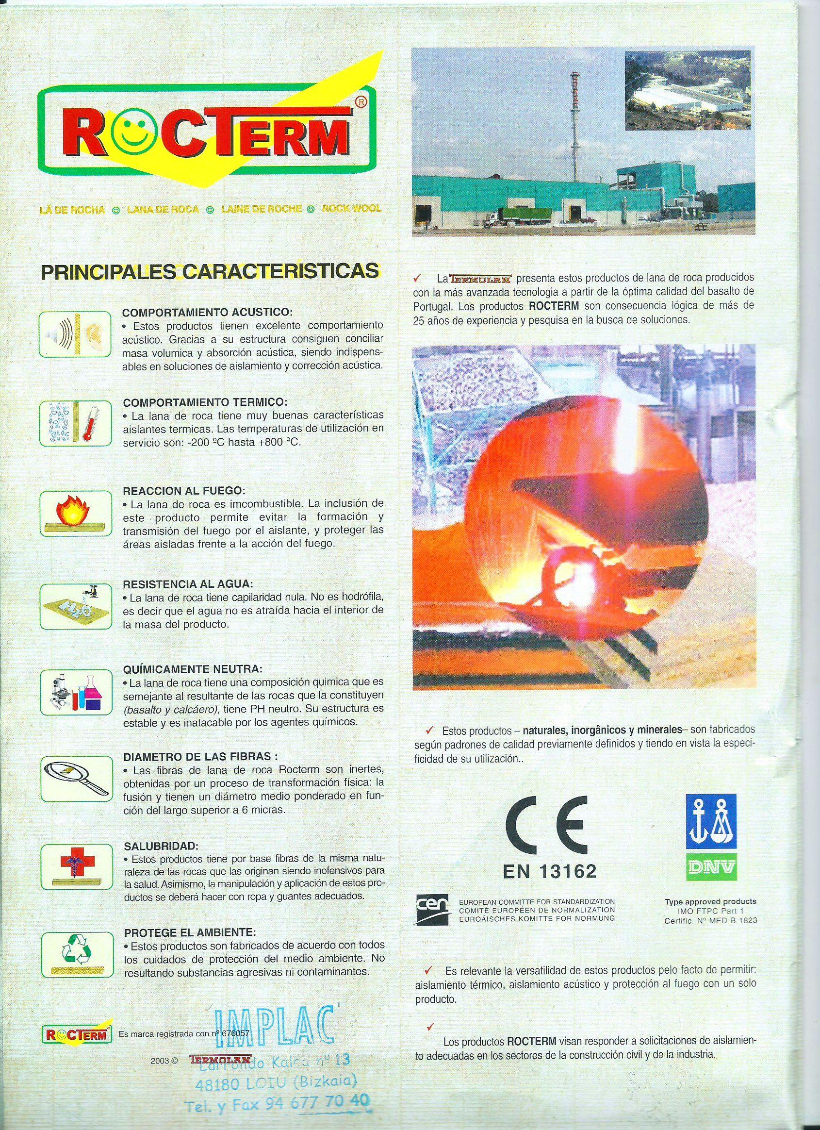 Aislamientos termicos, acusticos y contra el fuego