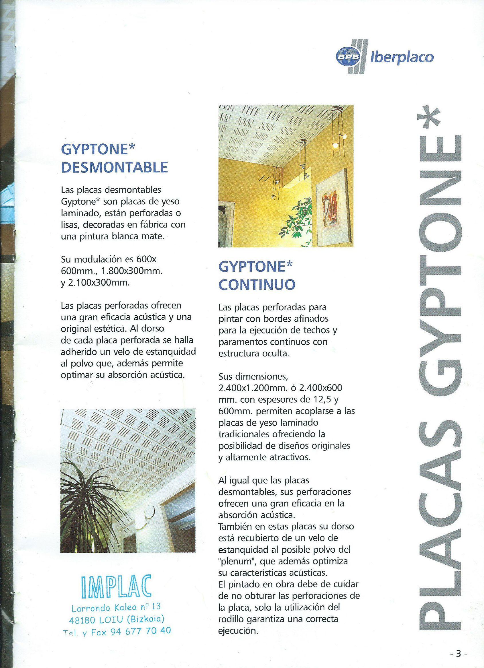 techos GYPTONE