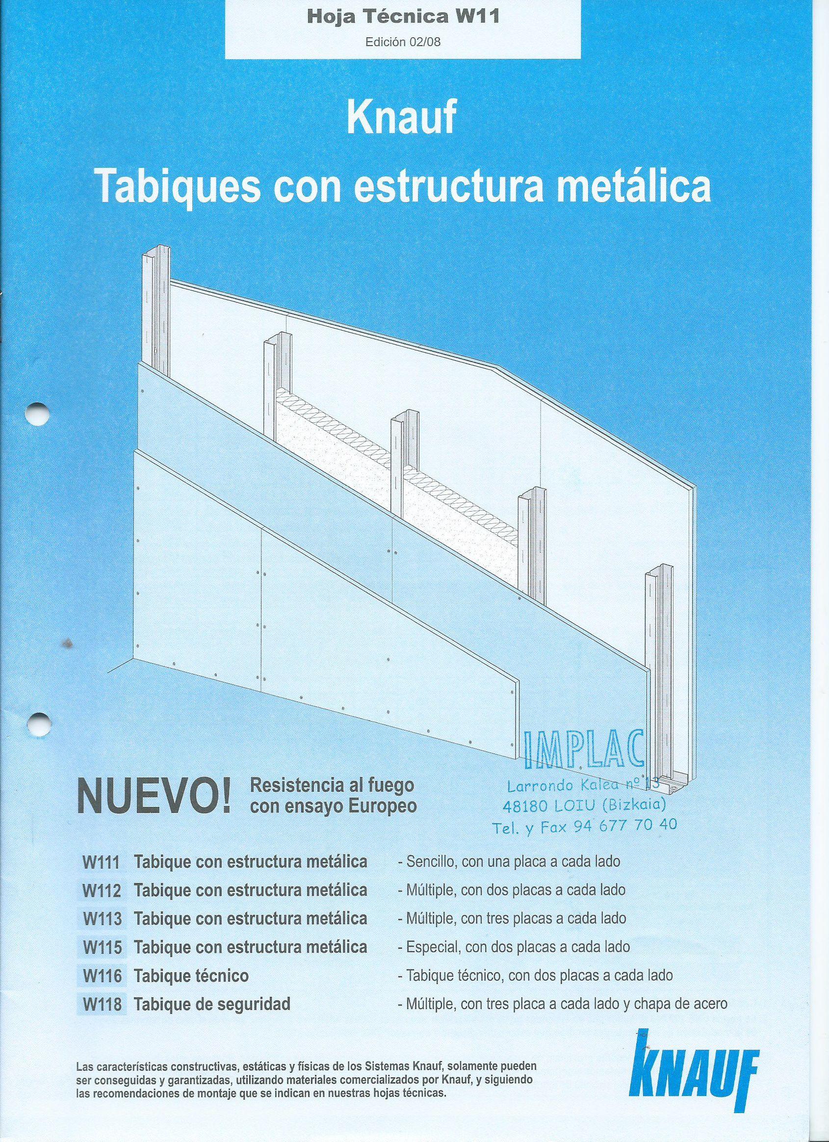 Tabiques con estructura metálica Knauf