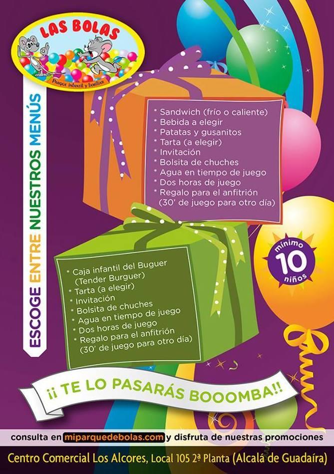 Menú 1: Parque infantil de Las Bolas