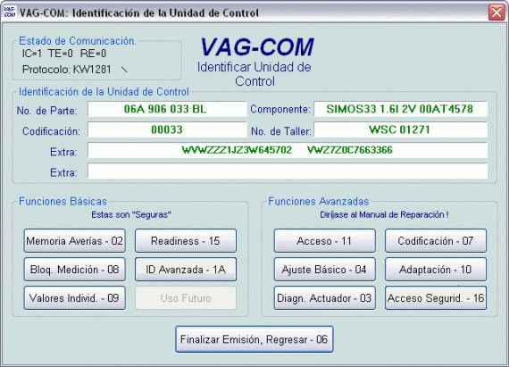Diagnosis grupo VAG