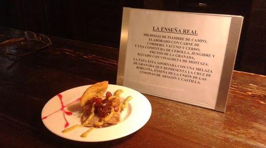 Tapa medieval: Enseña Real: Nuestros platos de La Cocina del Principal