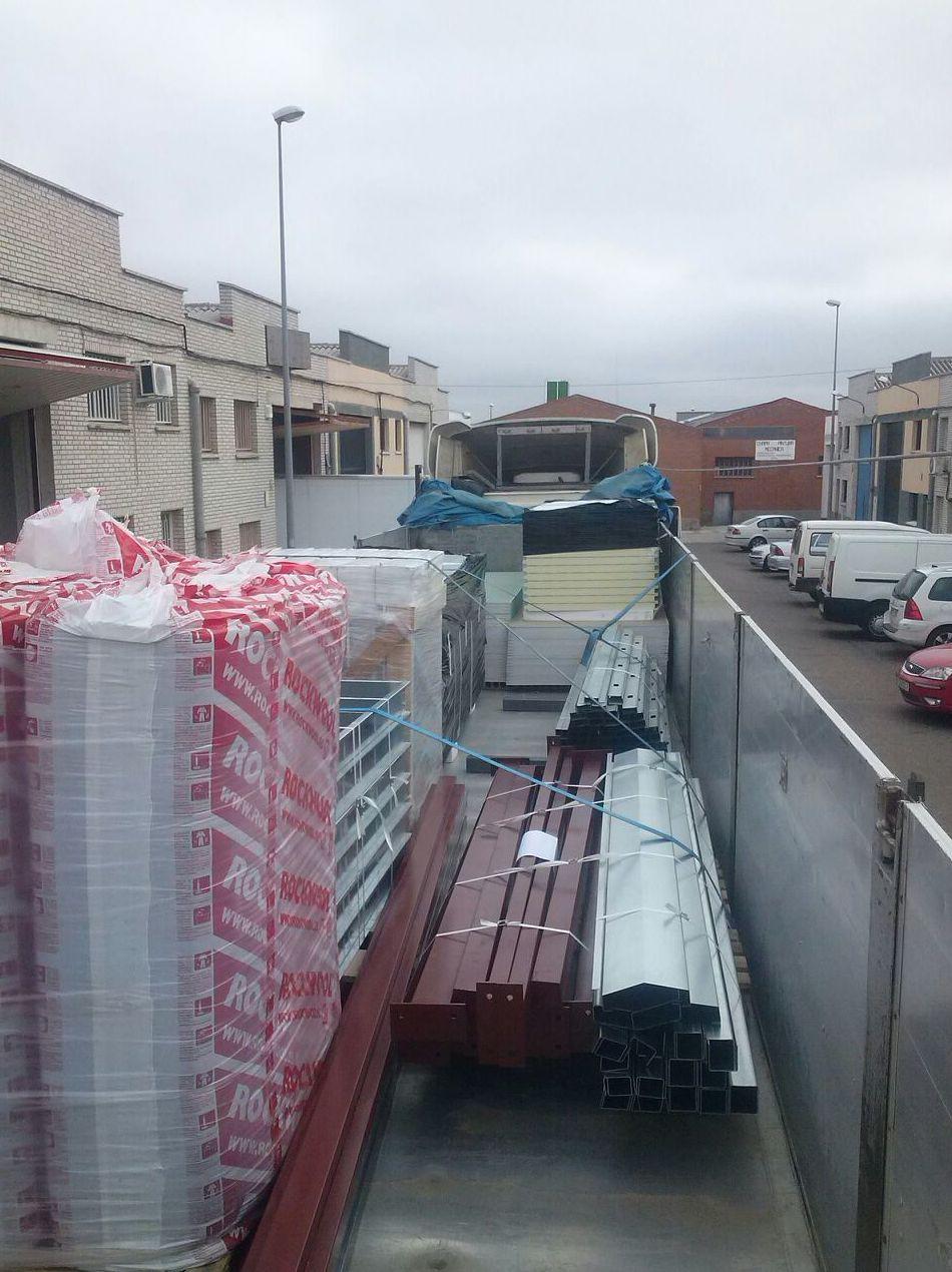 Carga del camión en Fabrica