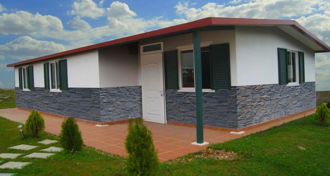 Casas Económica, con piedra