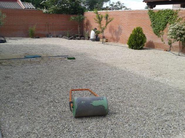 Preparación terreno césped artificial