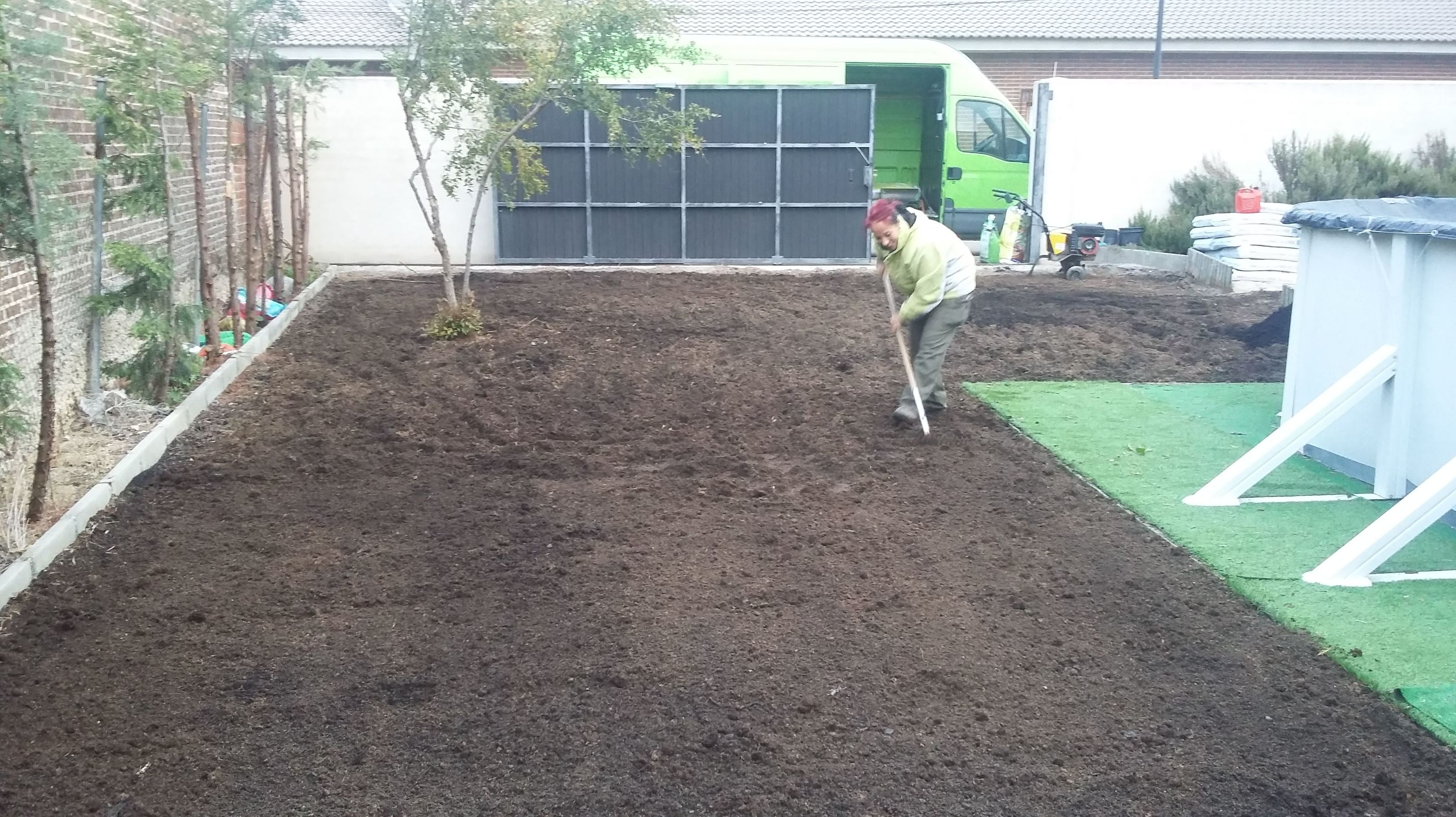 Preparación terreno para semillar
