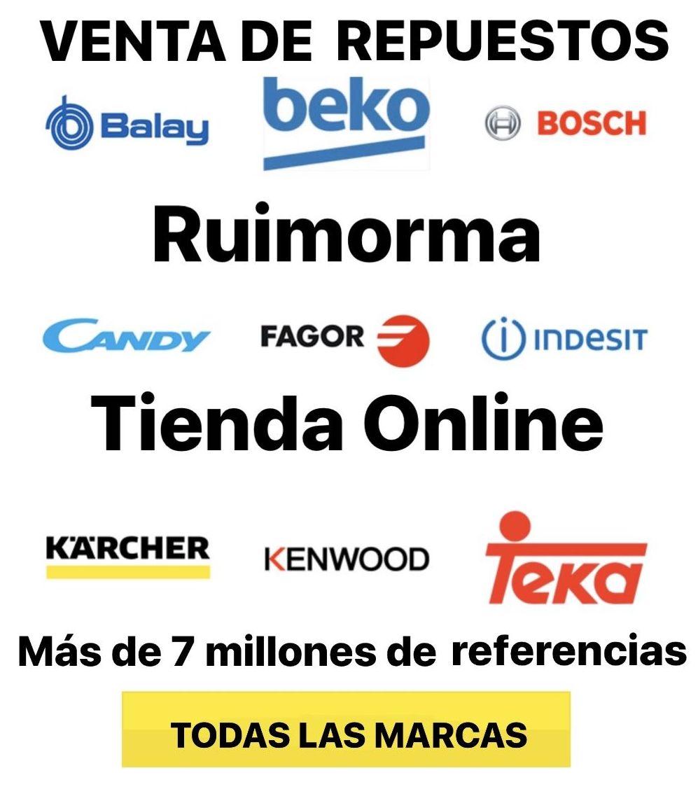 Ruimorma venta de repuestos y accesorios para electrodomésticos tienda Online