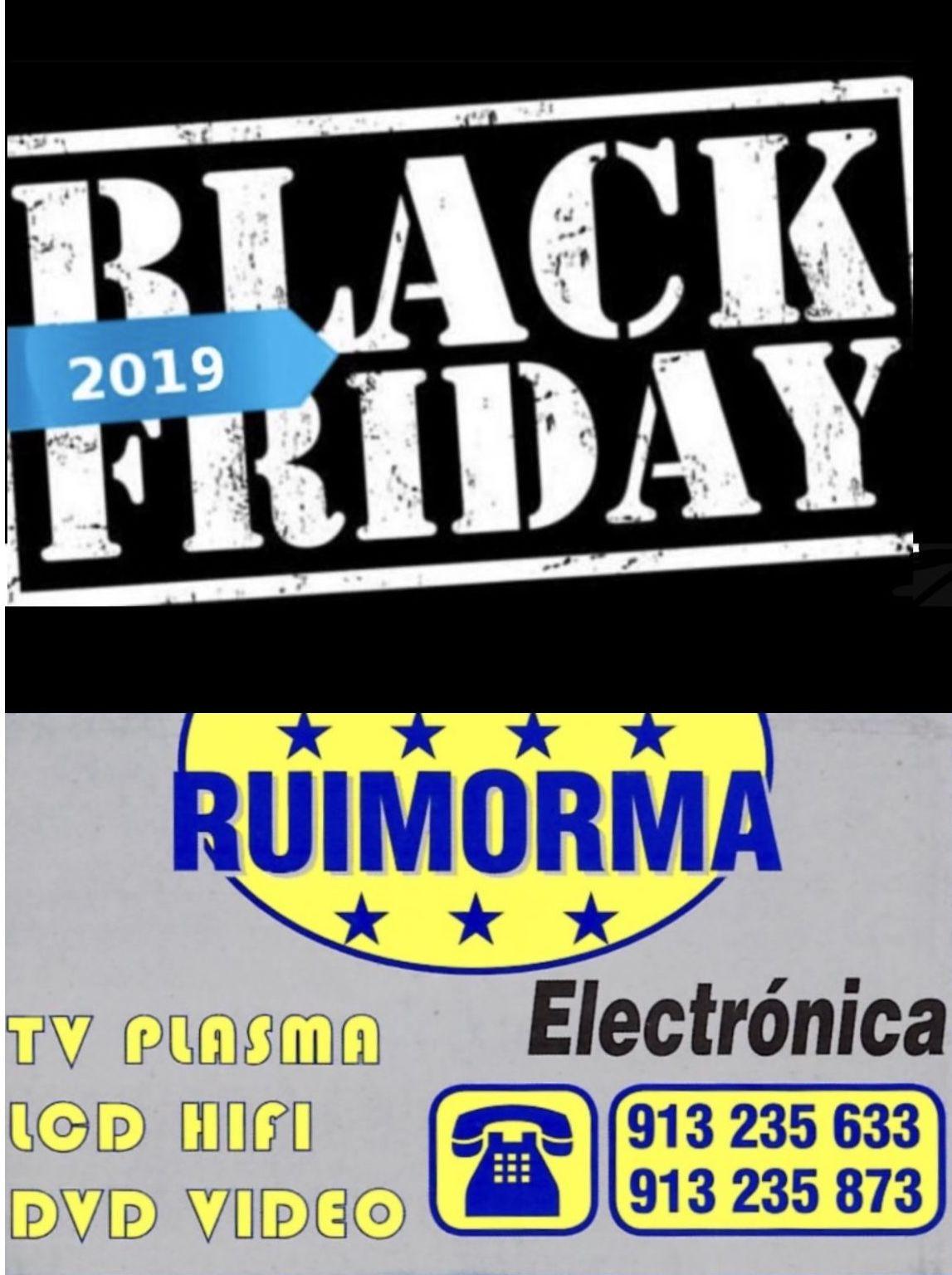 Black Friday en RUIMORMA reparación de televisores en Plaza de Castilla