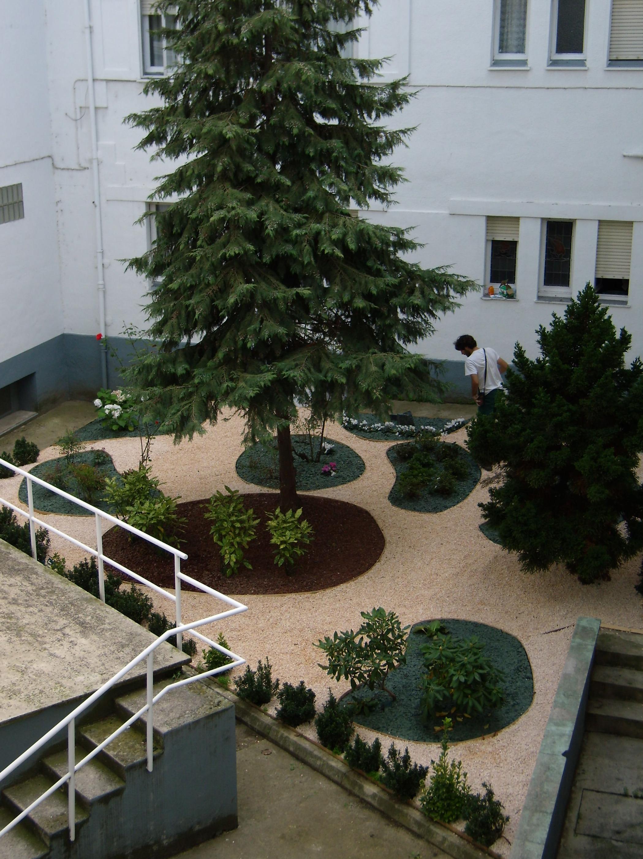 Diseño jardín. Aridos. Delimitadores. Parterre. Xerojardinería. Patios. Arbustos.