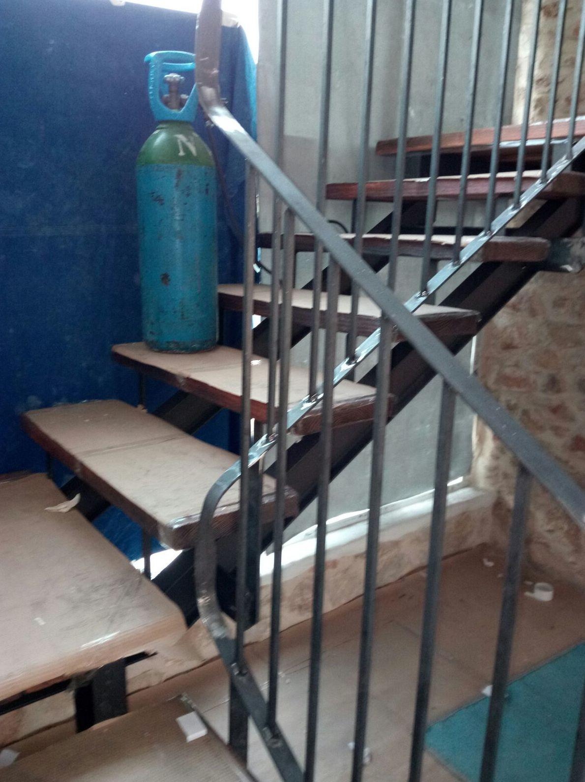 Barandilla de escalera realizada en Pedreguer