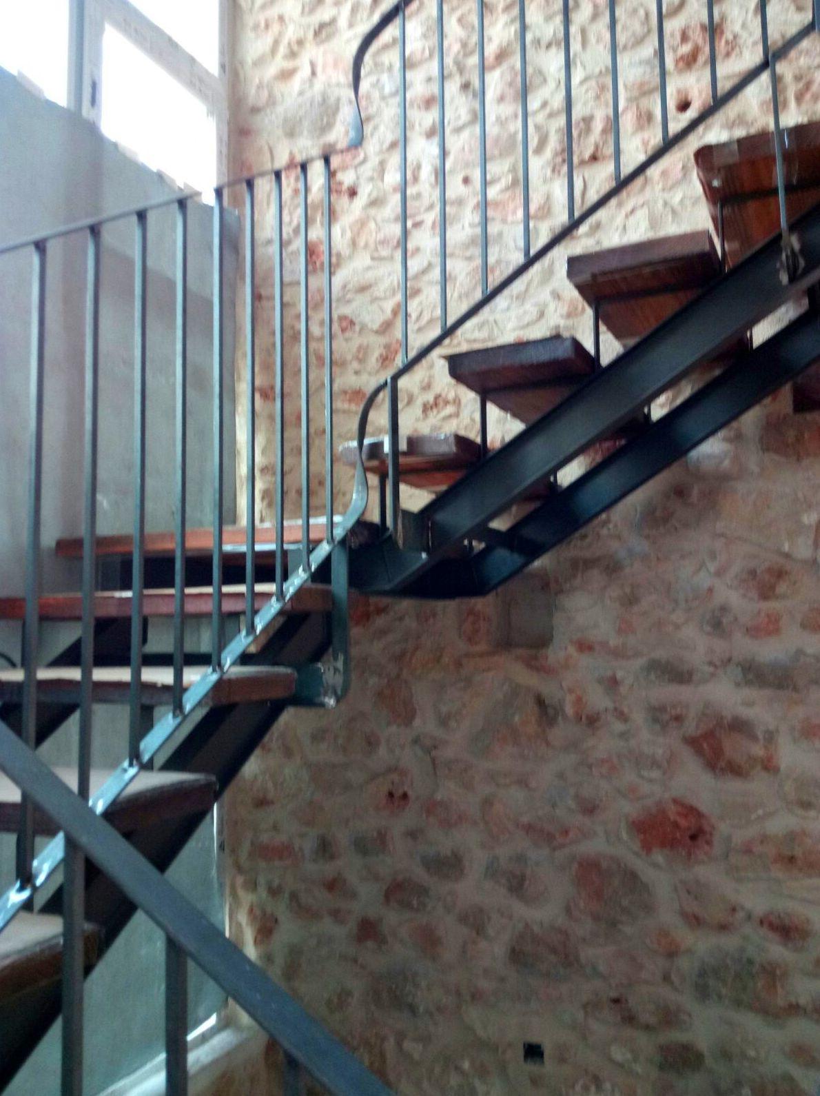Barandilla y escalera de hierro realizada en Pedreguer