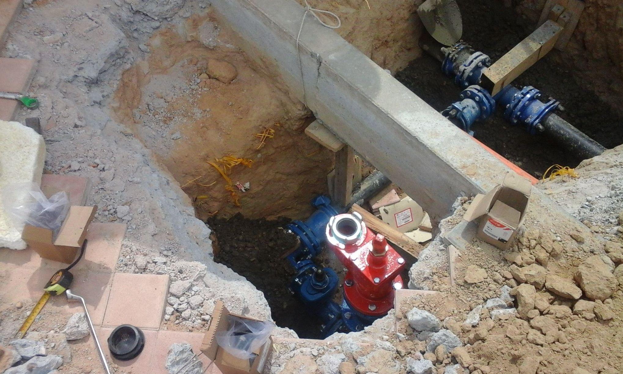 Instalación de Hidrante