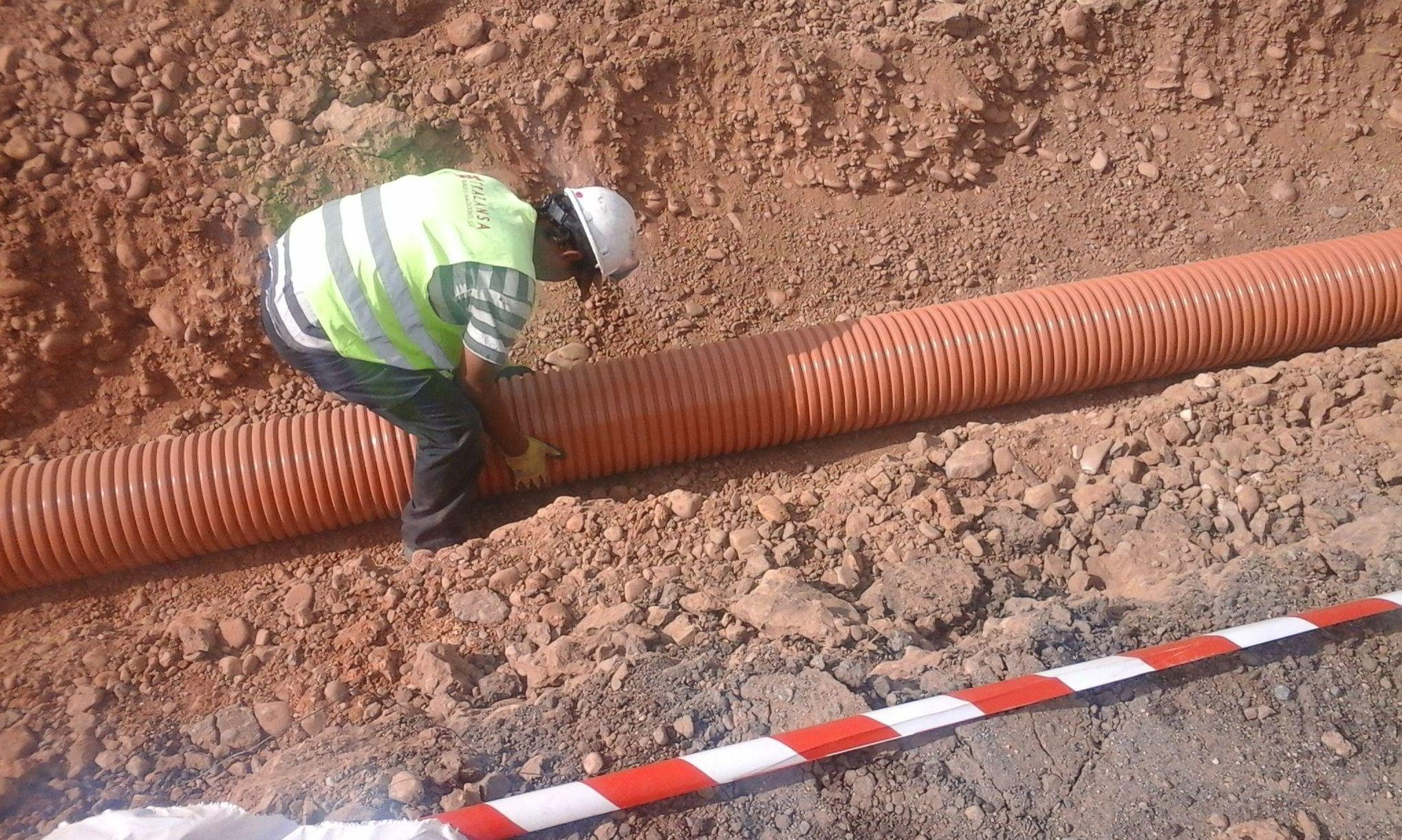 Montaje de tubería de PVC en Onzonilla (León)