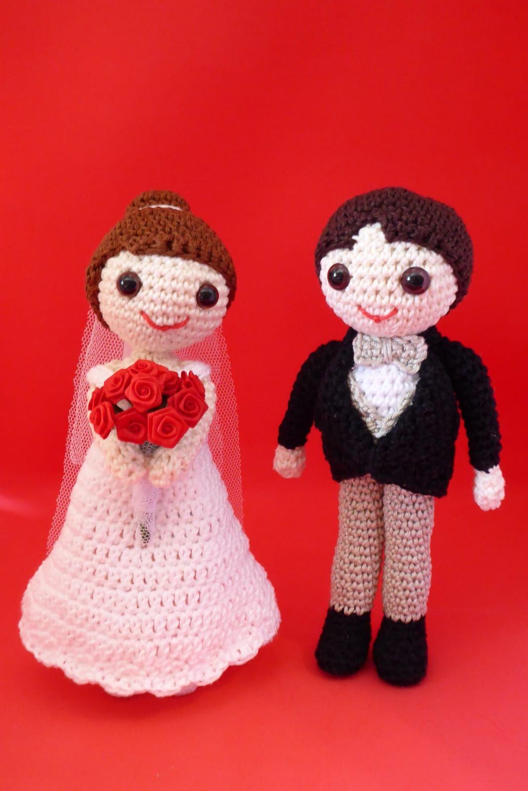 Amigurumis novios. un detalle original para boda