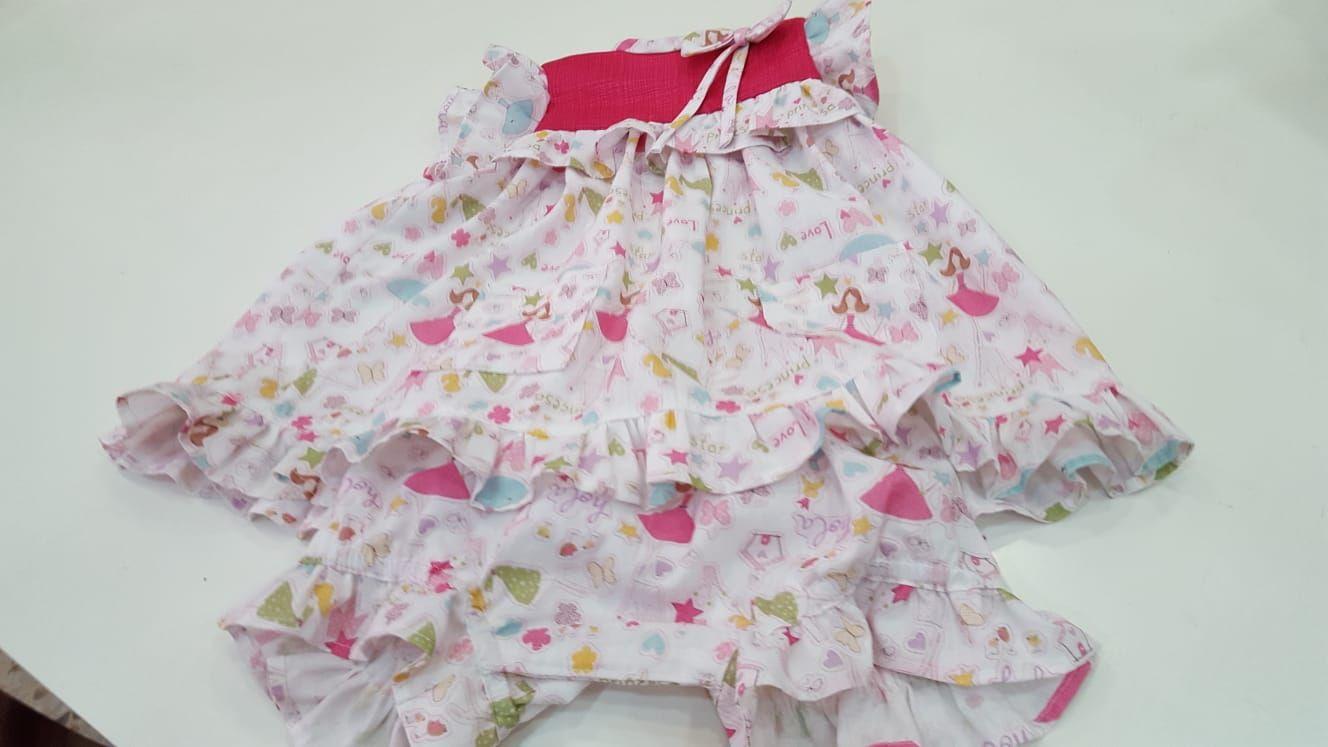 Vestido de bebé con la ranita cubre pañal