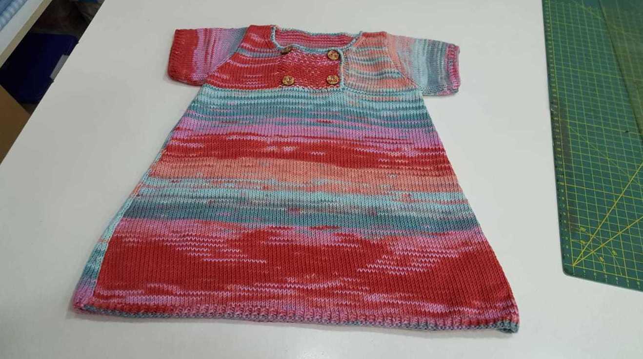 Vestido de algodón realizado en nuestro taller de costura