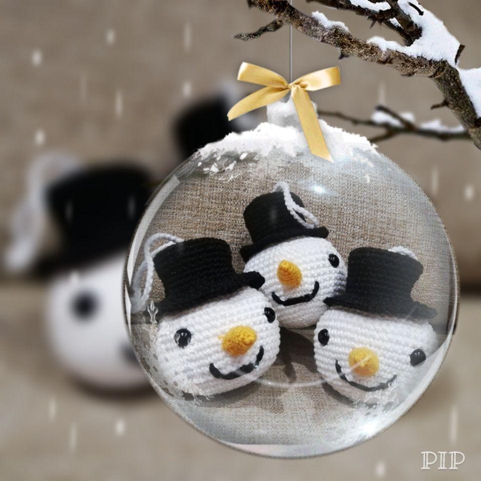 Decoración a ganchillo para estas Navidades