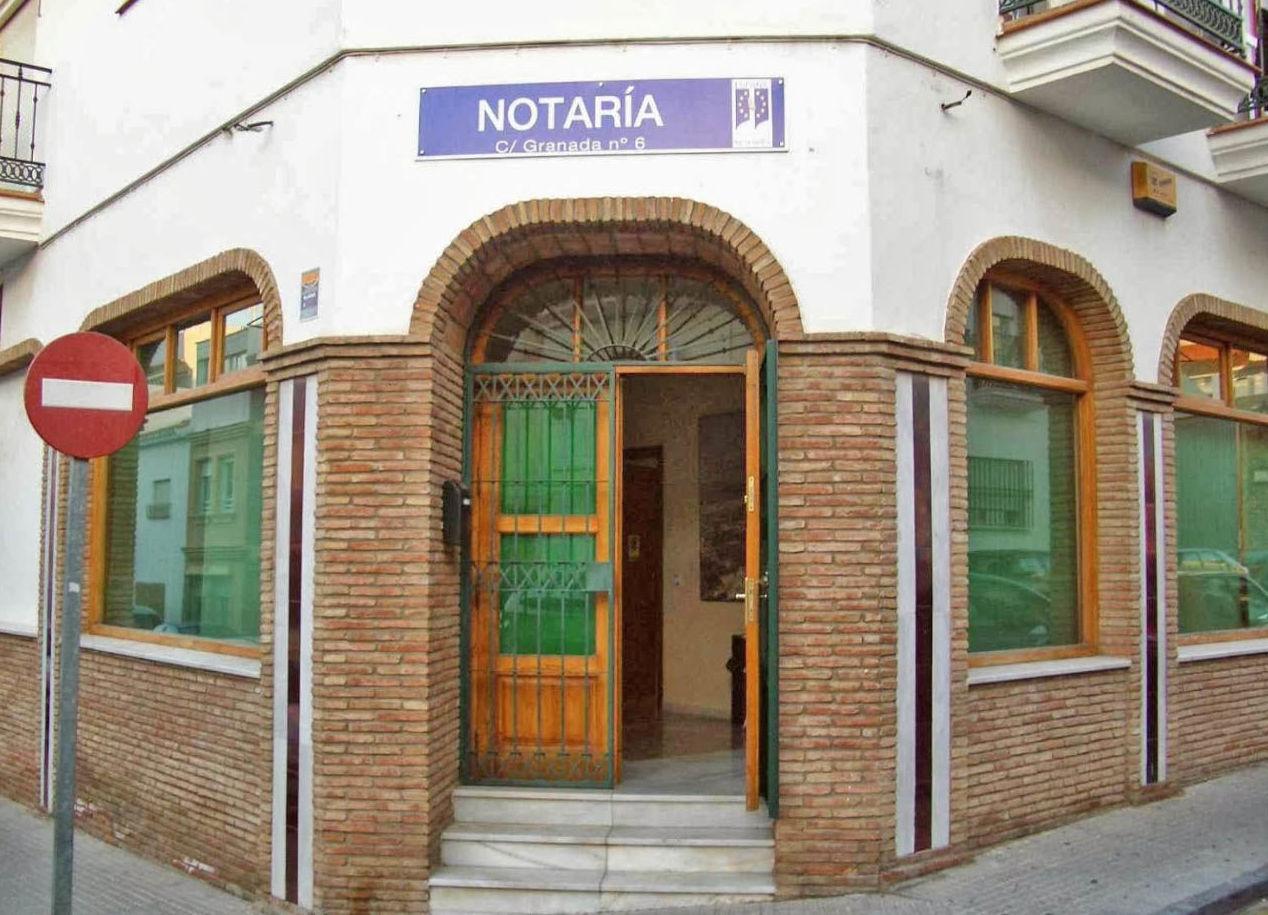 Fachada de la notaría
